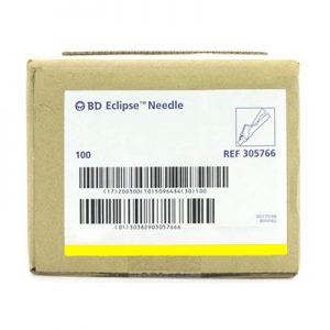 "BD™ Eclipse™ Safety Needle 30G x 1/2"" (yellow)"