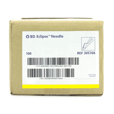 """BD™ Eclipse™ Safety Needle 30G x 1/2"""" (yellow)"""