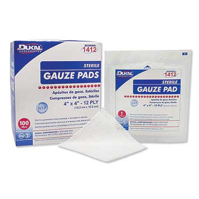 """4""""x4"""" Gauze Pads (Sterile) 1/pack - 100/tray"""