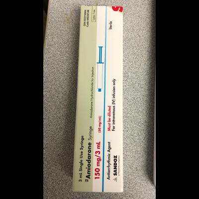 Amiodarone Syringe 150 mg/ 3 mL