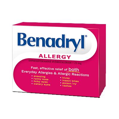 Benadryl 25mg 60 caplets