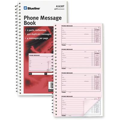 Blueline Telephone Message Book
