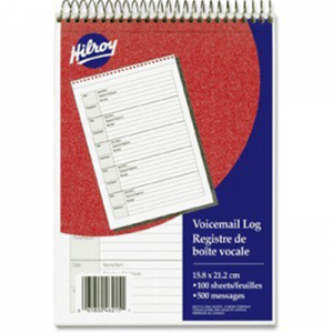 Hilroy 46215 Voicemail Log Book
