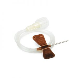 "Nipro Standard Butterfly Infusion Set 19G x 3/4"" - 12"" Tube 50/box (brown)"