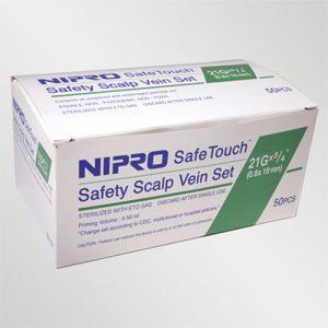 "Nipro Standard Butterfly Infusion Set 21G x 3/4"" - 12"" Tube 50/box (green)"