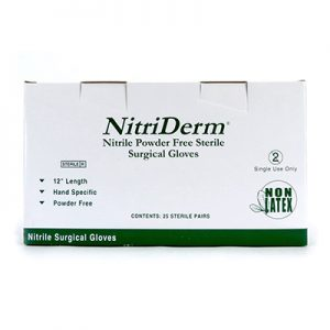 Nitriderm Nitrile Powder Free Gloves Size 6 Sterile 25 pairs/box