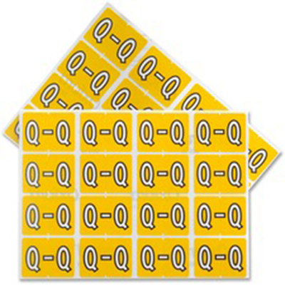 Pendaflex Colour Coded Label Letter Q