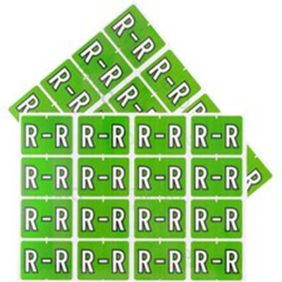 Pendaflex Colour Coded Label Letter R
