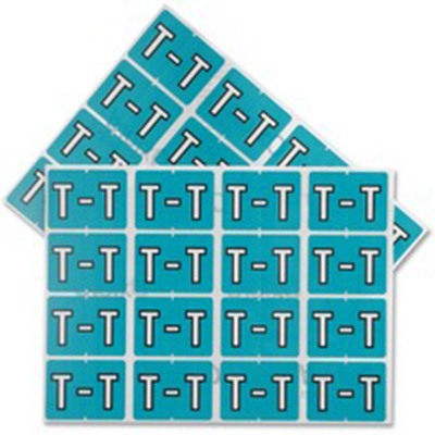 Pendaflex Colour Coded Label Letter T