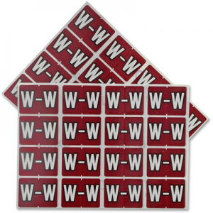 Pendaflex Colour Coded Label Letter W