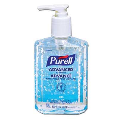 Purell® Advanced Hand Sanitizer 70% Gel 236mL (8oz) Pump Bottle