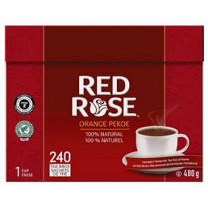 Red Rose Orange Pekoe Tea, Pack of 240