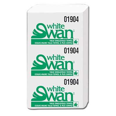 Single Fold Towels, White Swan 4000/case