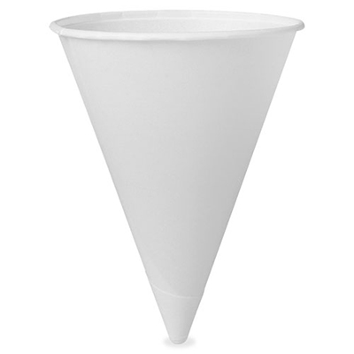 VERITIV (formerly Unisource) Paper Cone Cups, 4 oz., 5000/CT, White