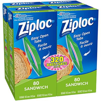 Ziploc Sandwich Bags with Easy Open Tabs