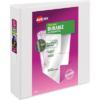 "Avery® Durable View Binder, 2"" Slant Rings, 500-Sheet Capacity, DuraHinge(R), White"