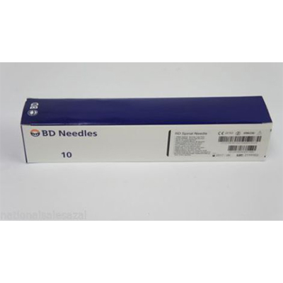 "BD Quincke Long Spinal Needles 22 G x 7"" (black)"