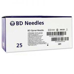 "BD Quincke Standard Spinal Needle 25 G x 3 1/2"" Blue Hub"