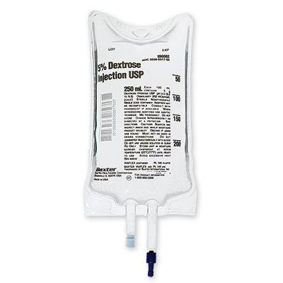 Baxter IV Bag Dextrose 5% 250ml 30/Case