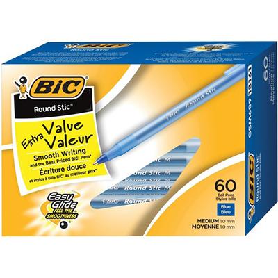 BiC Round Stic Ballpoint Pen - Blue