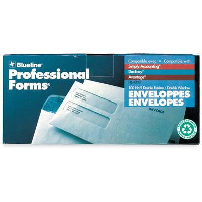 Blueline Double Window Envelopes