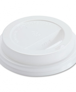Genuine Joe Hot Cup Lids, 8oz., 50/PK, White