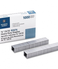 "Heavy Duty Staples 3/8"" Business Source Pack of 1000"