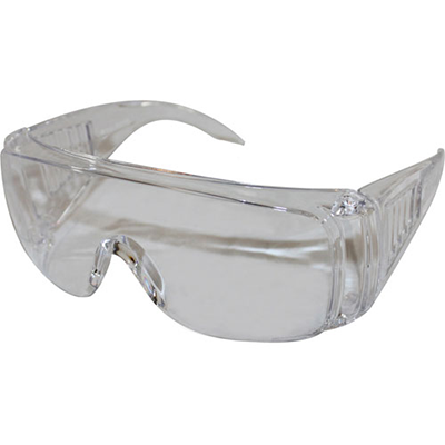 """IMPACT PRODUCTS, LLC Safety Glasses, Wraparound, 6-3/10""""Wx4-1/4""""Lx1-4/5""""H, Clear"""