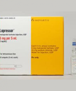 Lopresor* 1 mg/mL, 5 mL IV