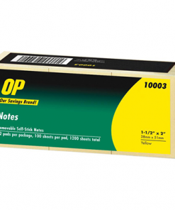 "OP Brand Adhesive Note Pad 1-1/2"" x 2"""