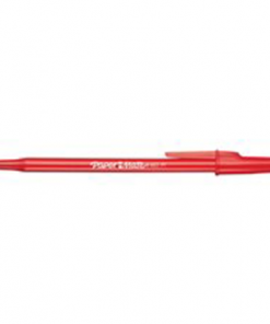 Paper Mate Write Bros. Stick Pens Medium Point Red 12/box