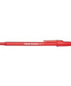 Paper Mate Write Bros. Stick Pens Medium Point Red 12/box
