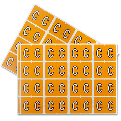 Pendaflex Colour Coded Label Letter C