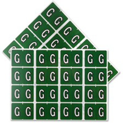 Pendaflex Colour Coded Label Letter G