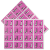 Pendaflex Colour Coded Label Letter J