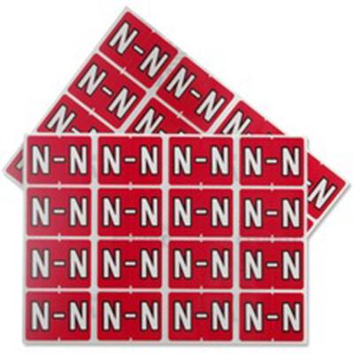 Pendaflex Colour Coded Label Letter N