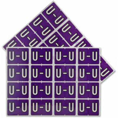 Pendaflex Colour Coded Label Letter U