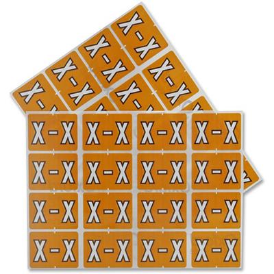 Pendaflex Colour Coded Label Letter X